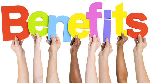 sign benefits is held by many hands