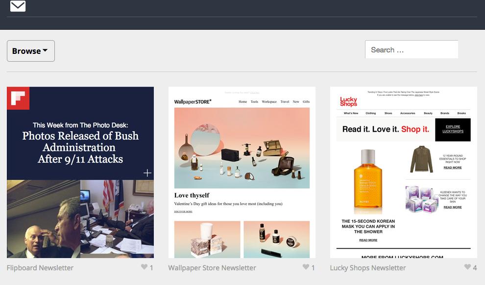 Email Gallery inspiration platform