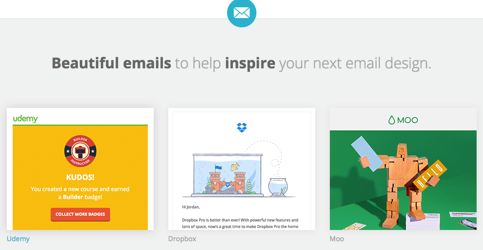 HTML Email Designs platform for inspiration